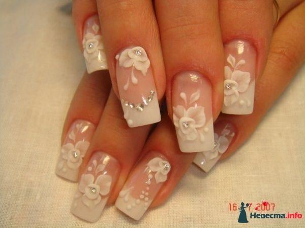 Фото рисунки для ногтей на свадьбу
