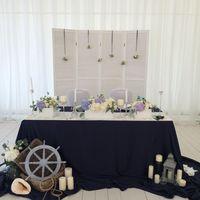 Стол молодых Морская свадьба 22 августа 2015