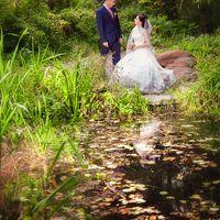 осенняя свадебная прогулка