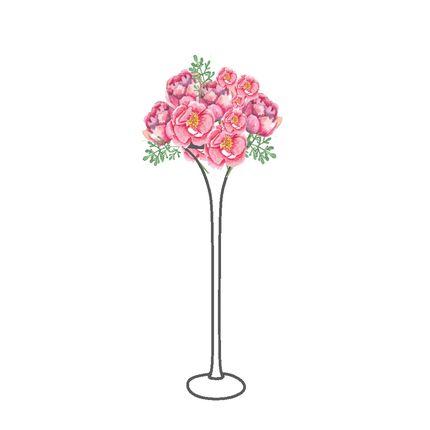 Мартинки на столы гостей с шапкой из искусственной флорой