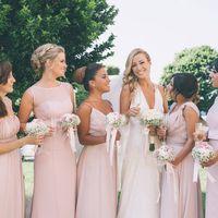 подружки невесты, платья подружек невесты в розовых тонах, свадьба летом