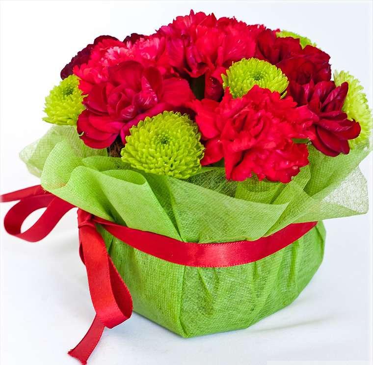 Цветы букет в губке