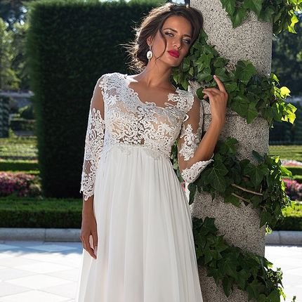 Свадебное платье в греческом стиле Perla