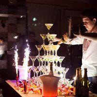 Горка с шампанским (36 бокалов)
