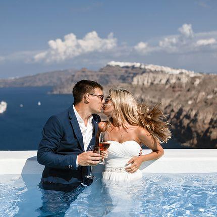 """Фотосъёмка неполного дня - пакет """"Свадьба на Санторини"""", 5 часов"""