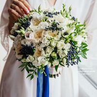 Букет невесты с пионовидными розами Фото Слава Семенов