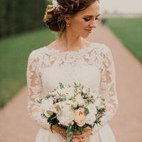 Букет невесты с пионовидными розами и мятными листиками эвкалипта Флорист Пашкова Ольга