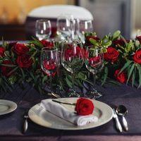 Оформление стола на свадьбе, место замок Castell de sant Florentina. Канет -дель-Мар, Испания