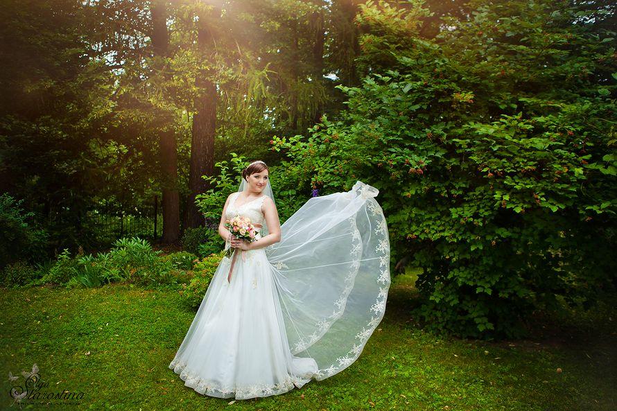 Невеста в классическом платье А-силуэта с кружевным подолом и корсетом  - фото 2685319 Фотограф Ольга Старостина