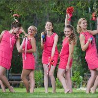 DSC_2931 Подружки невесты в ярко-розовом