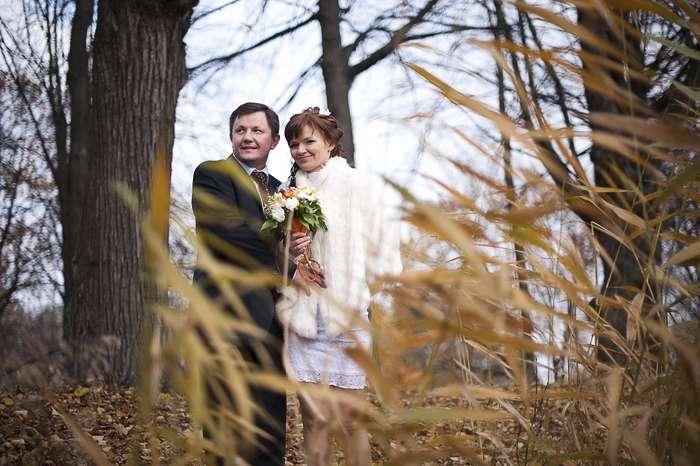 осенняя свадьба, свадьба осенью, короткие свадебные платья - фото 3161263 Фотограф Людмила Аверьянова