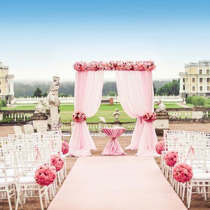 Оформление места для выездной регистрации брака