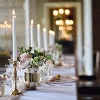 Украшение столов на свадьбу. Классика. Екатерина Праздник