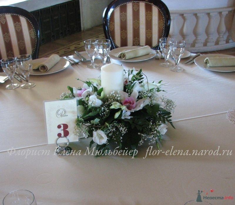 Композиция на гостевой стол - фото 48074 Цветочная мастерская Флорины