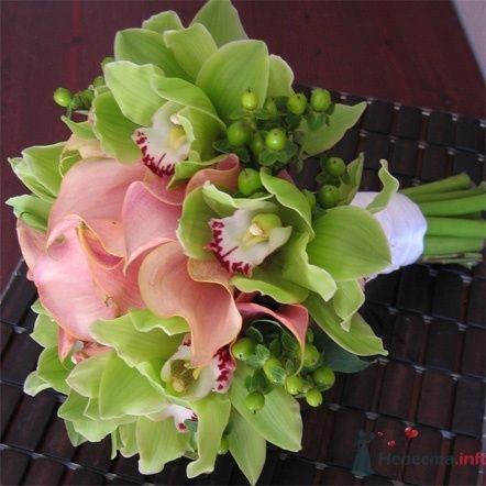 Букет из коралловых калл и орхидей - фото 440 Florina