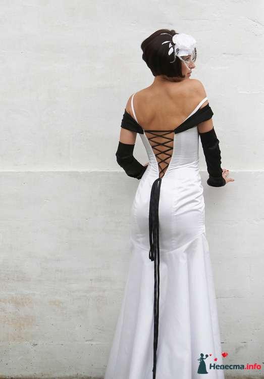 """Стильное, черно-белое платье невесты - фото 85840 Арт-Ателье """"Костюмер"""""""