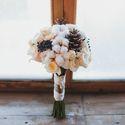 зима, сборы невесты, букет
