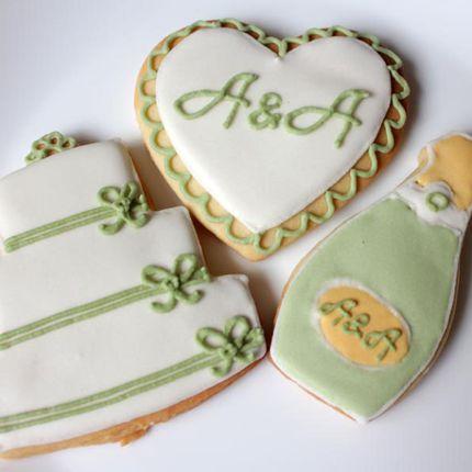 Свадебное печенье ручной работы