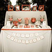 Яблочная красно-белая свадьба