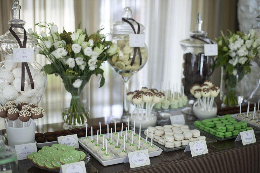 Свадьба в бело-зеленых тонах - фото 1244643 Candy Bar - cладкий бар на Праздник