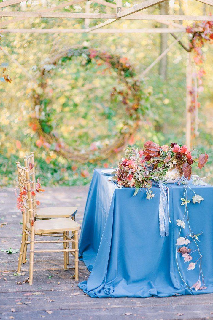"""Свадебная фотозона для осенней свадьбы, стол молодоженов - фото 16526966 Мастерская оформления свадеб """"Magic garden"""""""