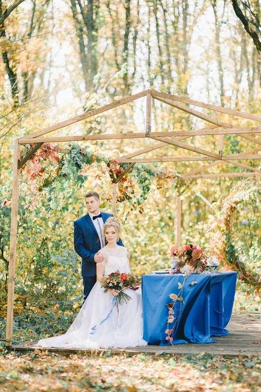 """Свадебная фотозона для осенней свадьбы, стол молодоженов - фото 16526970 Мастерская оформления свадеб """"Magic garden"""""""