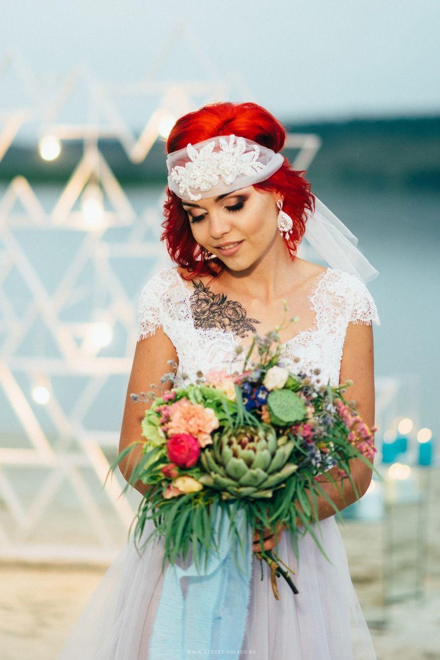 """Букет невесты с артишоком - фото 16526992 Мастерская оформления свадеб """"Magic garden"""""""