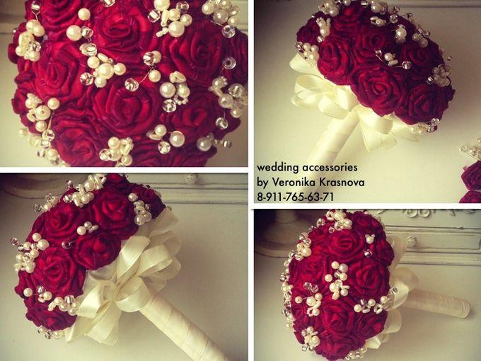 Как сделать свадебные букеты из лент своими руками