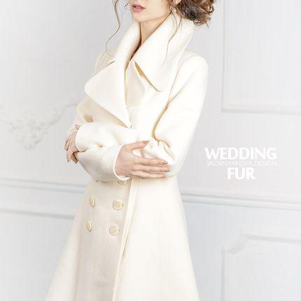 Белое демисезоннное пальто - продажа