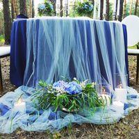 Романтический ужин в лесу #декоружина #синий #гортензия #свечи #оформлениепраздника