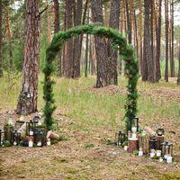Выездная церемония в лесу! #леснаясвадьба #церемониявлесу #фонарь #бревна #свечи