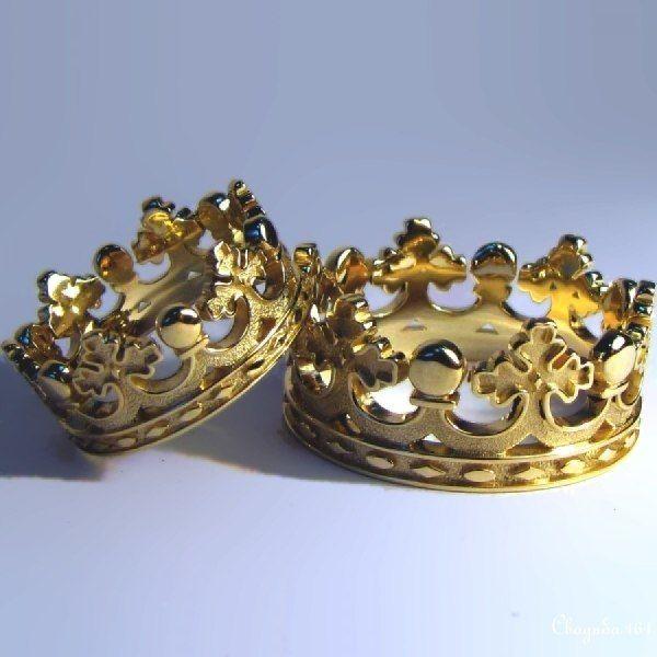 """Обручальное кольцо корона - фото 3739453 Ювелирная дизайн студия """"Золотая Роскошь"""""""