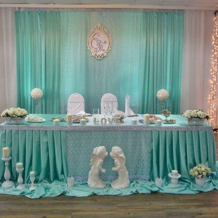 Свадебное оформление залов текстилем
