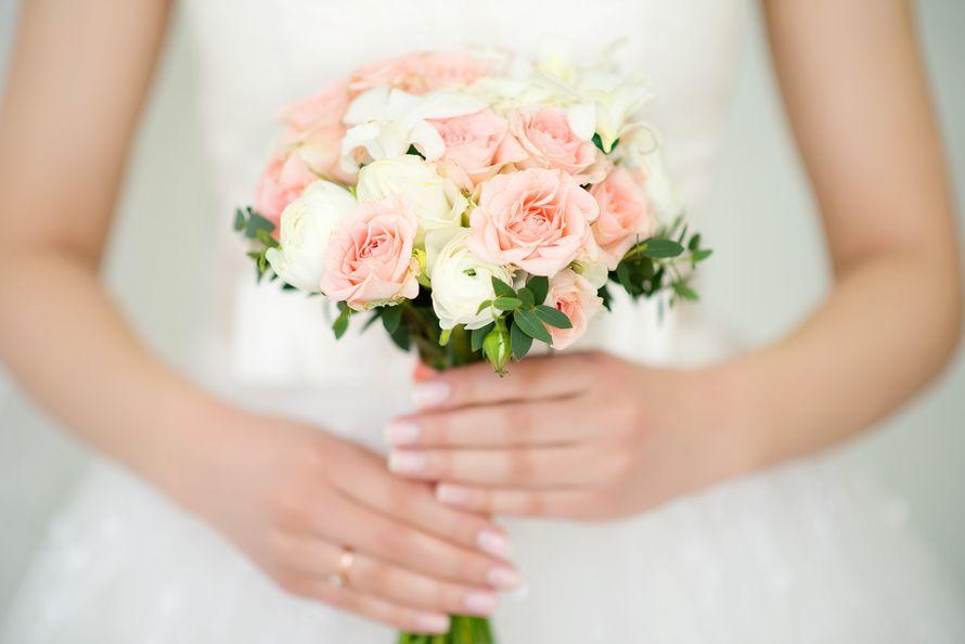 Стильные, свадебный букет маленький недорого