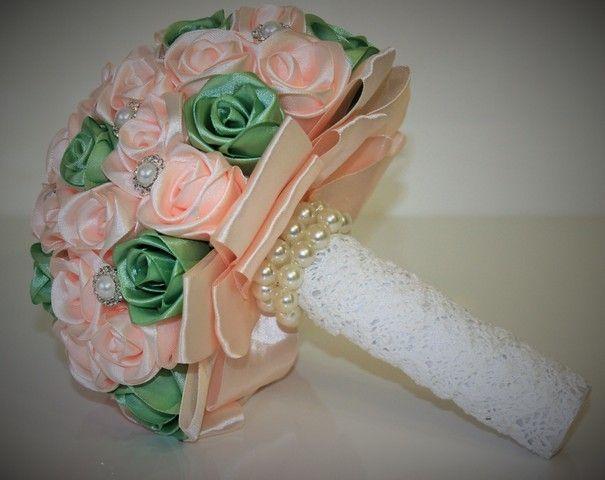 Как сделать свадебные букет своими руками мастер класс