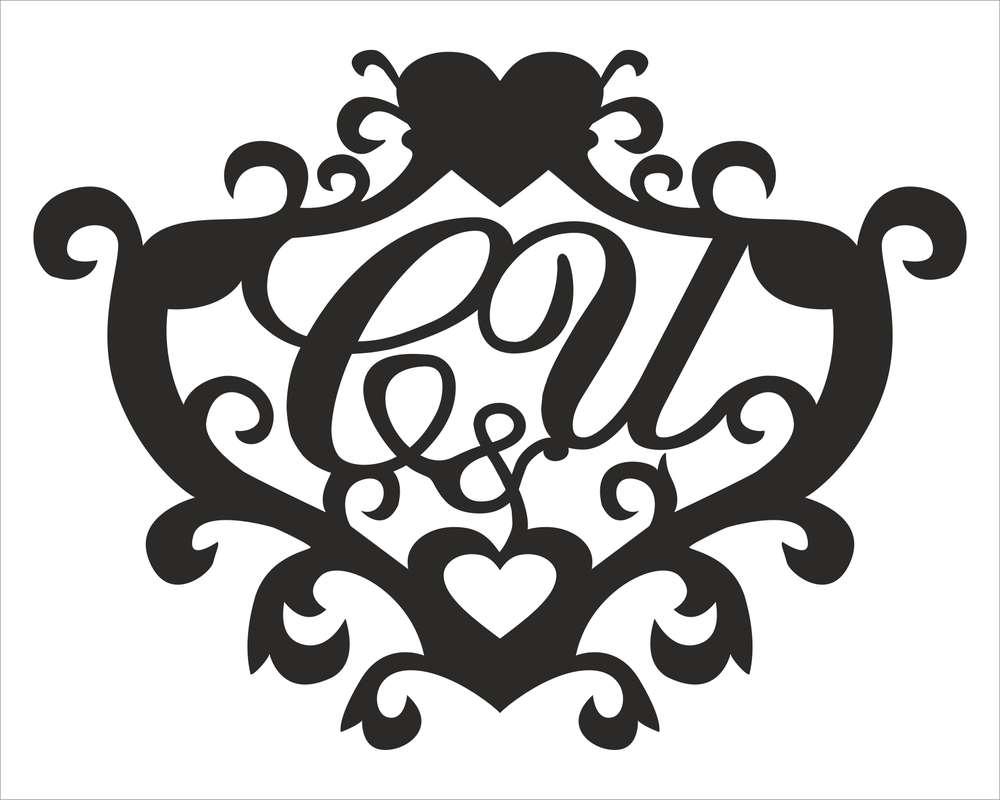 Свадебный герб шаблоны образцы вектор, картинках