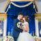 королевская свадьба, синий и золото, зона президиума, кисти, орхидеи
