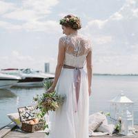 Свадьба Rustic, рустик, невеста, венок из живых цветов, букет невесты, свадебная флористика, пикник, фонари, свечи
