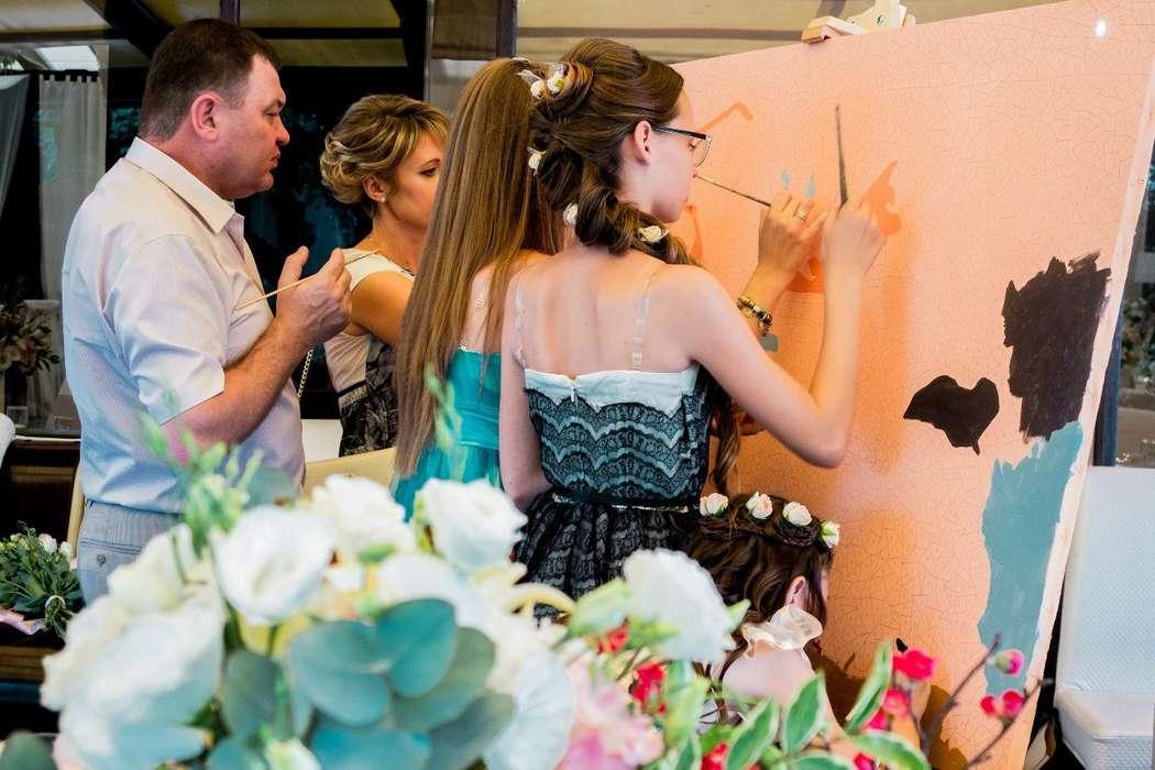 Фото 8651220 в коллекции Живописный интерактив - картина в исполнении гостей события! - Artlumen show - портрет-шоу