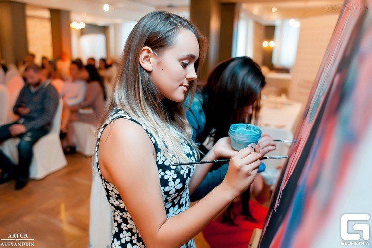 Фото 8651228 в коллекции Живописный интерактив - картина в исполнении гостей события! - Artlumen show - портрет-шоу