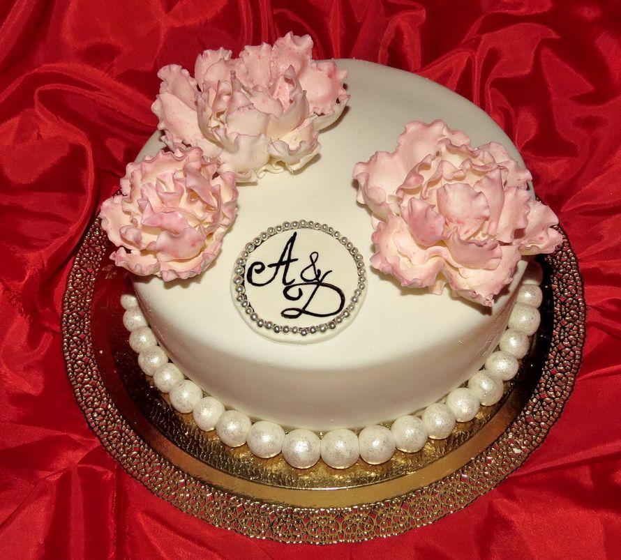 Самые красивые свадебные торты одноярусные