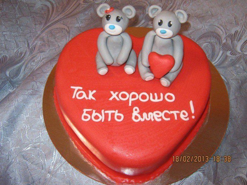 Фото тортов 14февраля