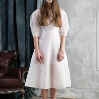 Свадебное платье VARAKSINA из шелка и вискозного французского кружева