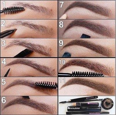 Как сделать дома идеальные брови