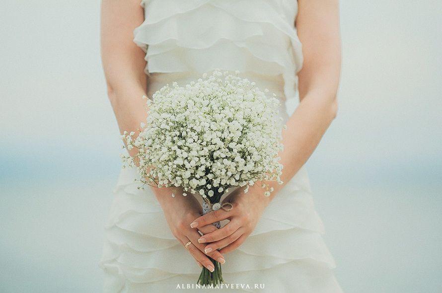 Свадебный букет из гипсофила