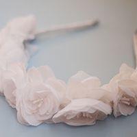 Ободок в причёску невесты