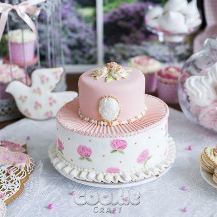 "Двухъярусный свадебный торт ""Шебби шик"", цена за 1 кг"