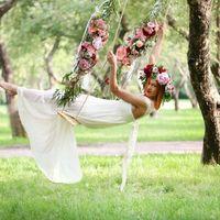 Бохо, бордовый букет, утро невесты