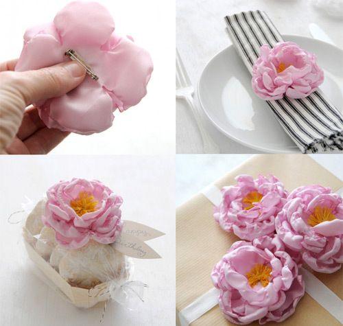 Как сделать цветы из ткани самим