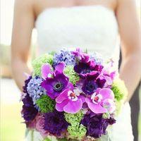 фиолетовый. сиреневый, зеленый, букет невесты